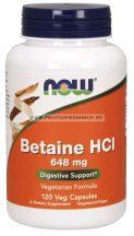 NOW Betaine HCL 120 kapszula