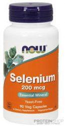 NOW Selenium 200 mcg 90 kapszula