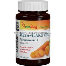 VitaKing Béta-karotin 25000 NE 100 gélkapszula