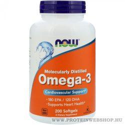 NOW Omega-3 200 lágyzselé kapszula