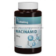 VitaKing Niacinamid B3 vitamin 500mg 100 tabletta