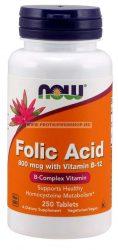 NOW Folic Acid 800 mcg 250 tabletta