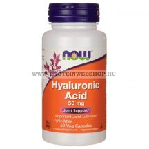 NOW Hyaluronic Acid 50 mg With Msm 60 kapszula