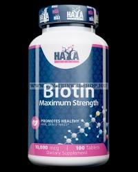 Haya Labs Biotin Maximum Strength 10.000 mcg 100 tabletta