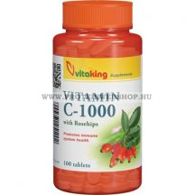 VitaKing - Vitamin C-1000 mg Rose Hips - 100 tabletta