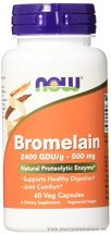NOW Bromelain 500 mg 2400 GDU/g 60 kapszula