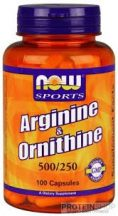 NOW Arginine & Ornithine 500/250 100 kapszula