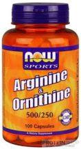 NOW Arginine & Ornithine 500/250 100 kapszula