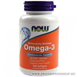 NOW Omega-3 100 lágyzselé kapszula