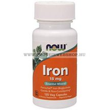 NOW Iron 18 mg 120 Veg Kapszula