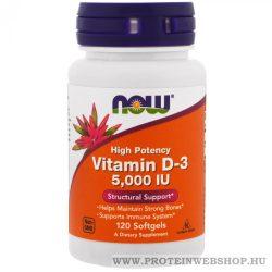 NOW Vitamin D3 5000 IU 120 lágyzselé kapszula