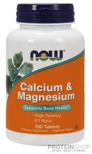 NOW Calcium & Magnesium 100 tabletta