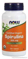 NOW Spirulina 500 mg 100 tabletta