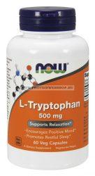 NOW L-Tryptophan 500mg 60 vegán kapszula