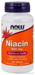NOW Niacin 500 mg 100 tabletta