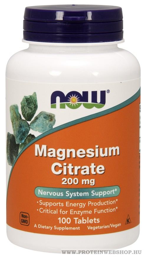 NOW Magnesium Citrate 200mg 100 tabletta