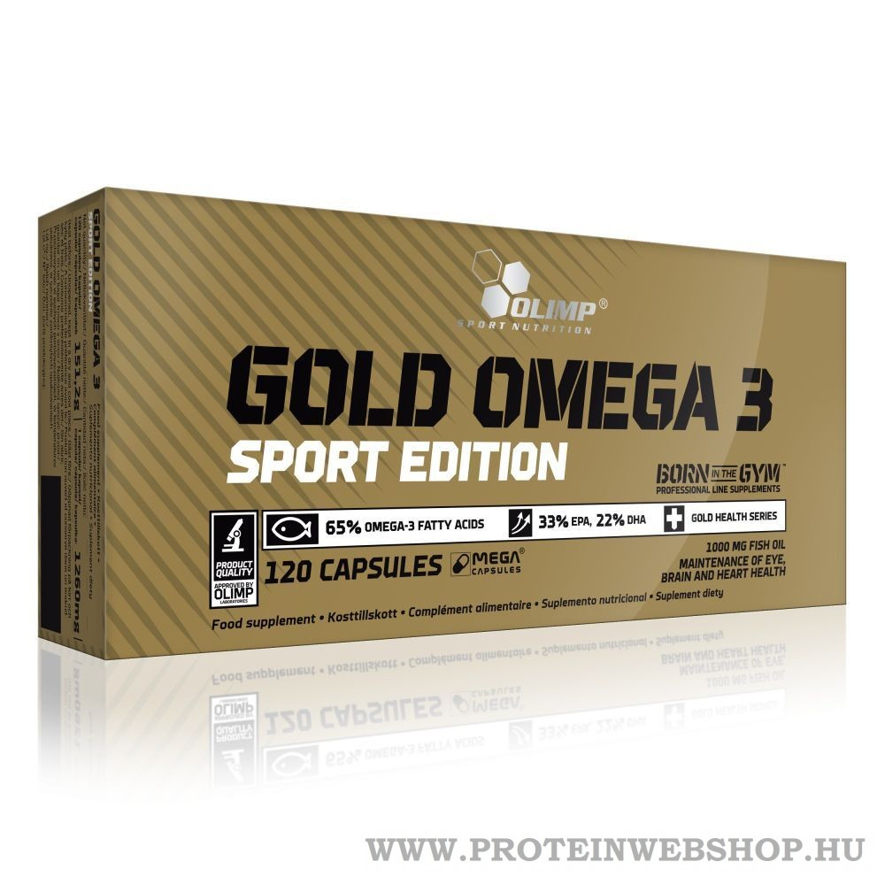 Olimp Gold Omega 3 Sport Edition 120 gélkapszula